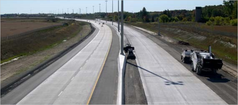 Highway 410 Extension under construction